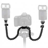 AccPro Flexible Macro Shooting Dual-Arm Flash Bracket [LS-10]
